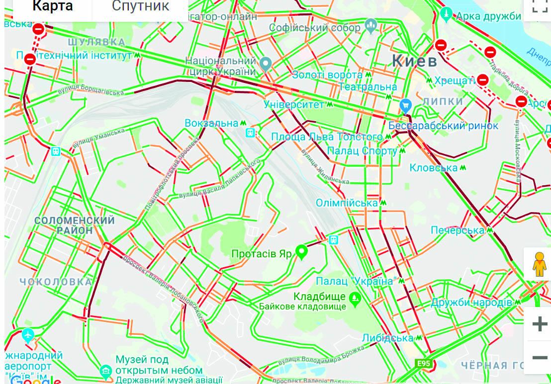 Київ паралізувало у кілометрових заторах - затори, дороги - 4785
