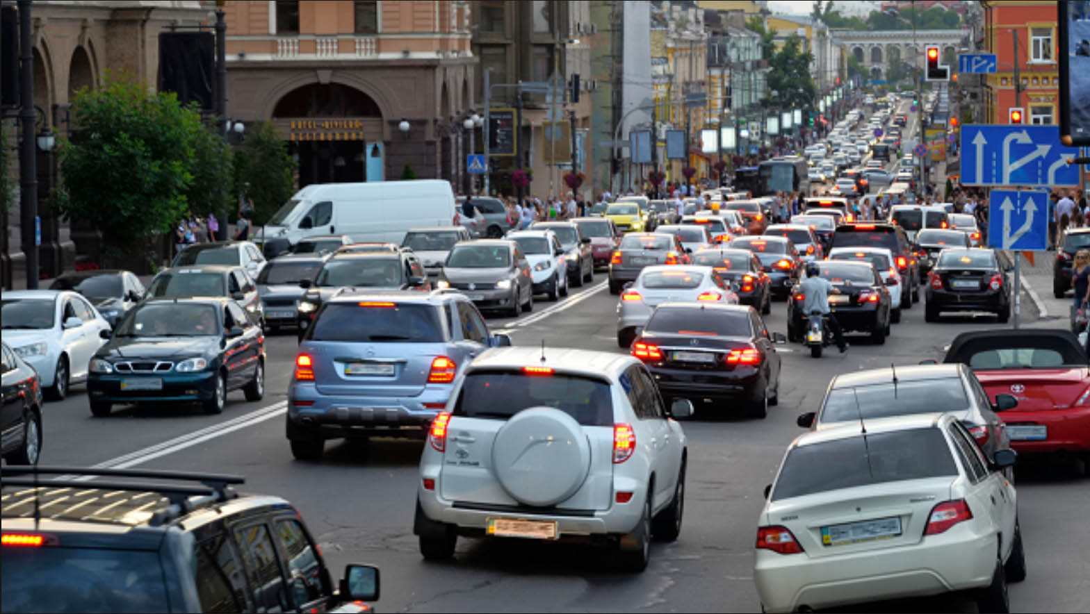 Затори у Києві: на яких вулицях обмежений рух - інавгурація, затори, водії, авто - 485hg