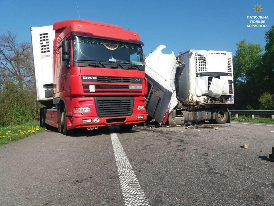 ДТП у Баришівському районі: 2 вантажівки не поділили дорогу -  - 59144817 2393258337562621 1289969336882036736 n