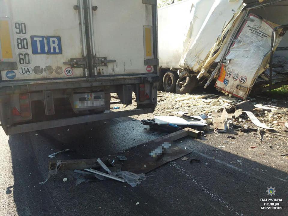 ДТП у Баришівському районі: 2 вантажівки не поділили дорогу -  - 59295810 2393258390895949 4239199258785349632 n
