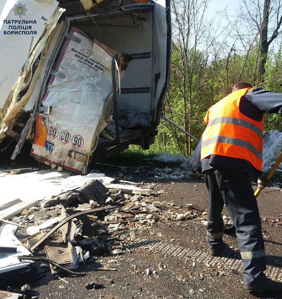 ДТП у Баришівському районі: 2 вантажівки не поділили дорогу -  - 59301643 2393258437562611 3097582541893271552 n