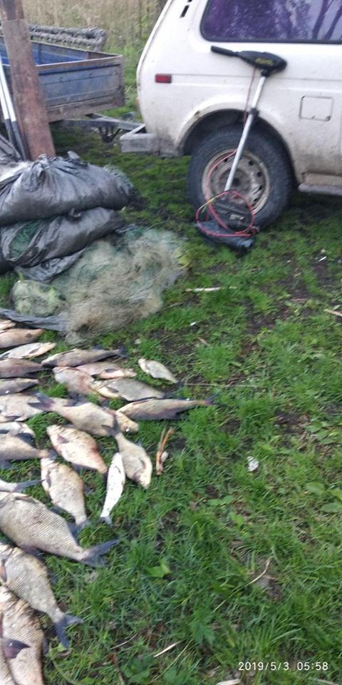 На Бориспільщині браконьєр виловив 90 кг риби -  - 60223649 2204690139607499 528268723866304512 n