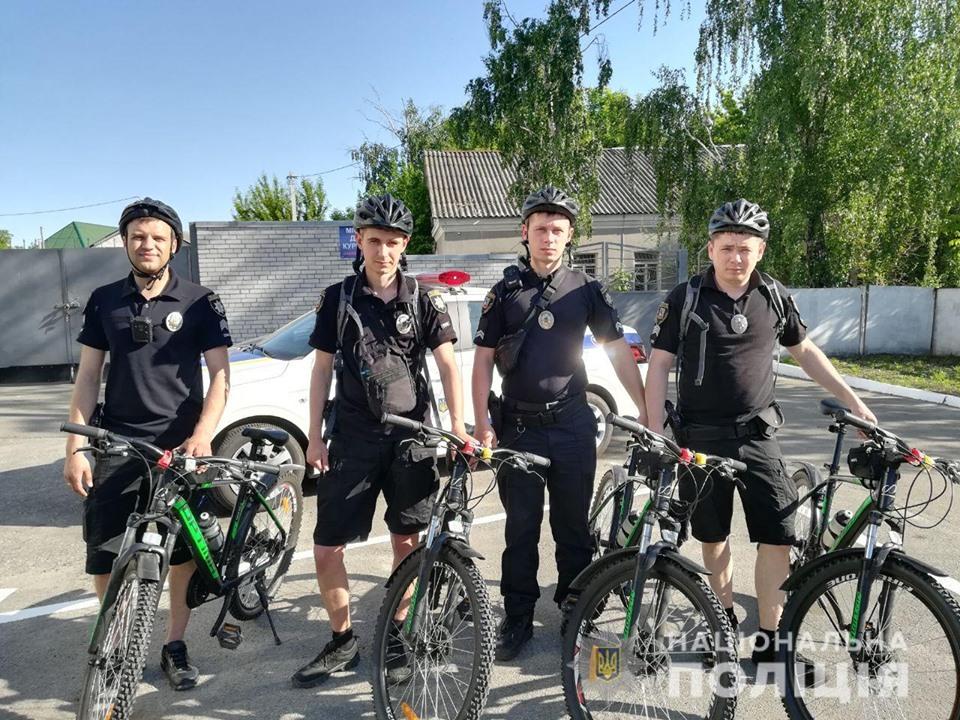 У Броварах відновилася робота поліцейських велопатрулів -  - 60738534 2272347399487086 5107731728680615936 n