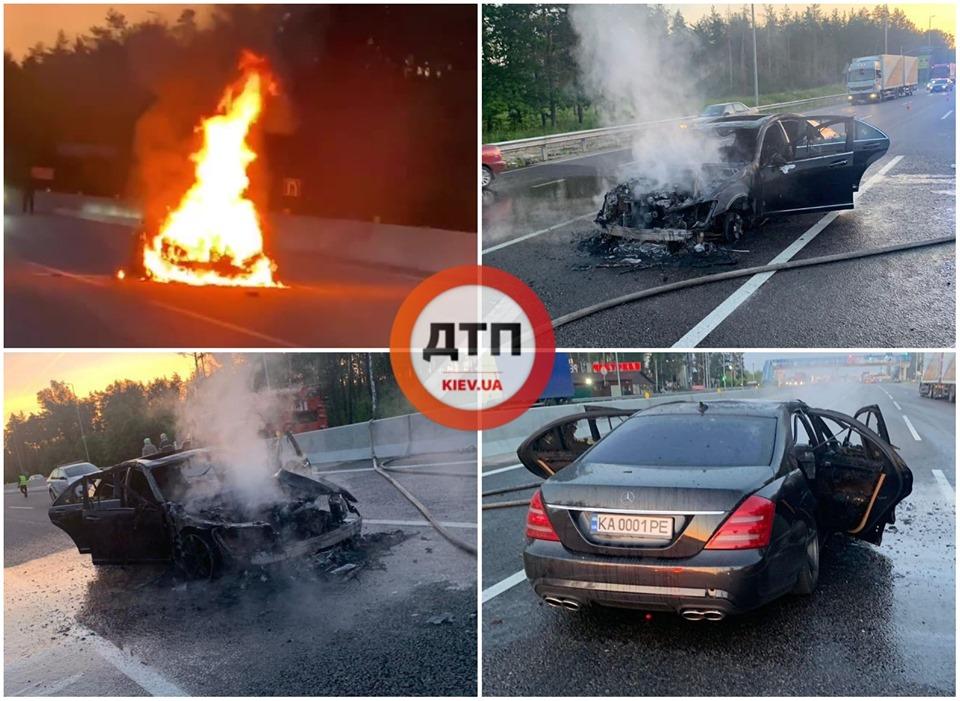 Поспішав – і згорів автомобіль на трасі Київ – Одеса неподалік Глевахи