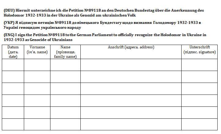 Петиція щодо визнання ФРН Голодомору в Україні Геноцидом українського народу -  - 61131841 2404310962968400 1370487952068575232 n