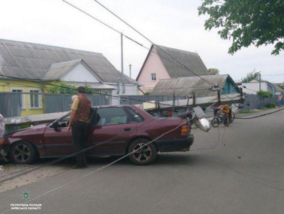 Чоловік, який зніс електроопору в Борисполі був п'яним -  - 61221329 1414795232027399 2580969191037206528 n