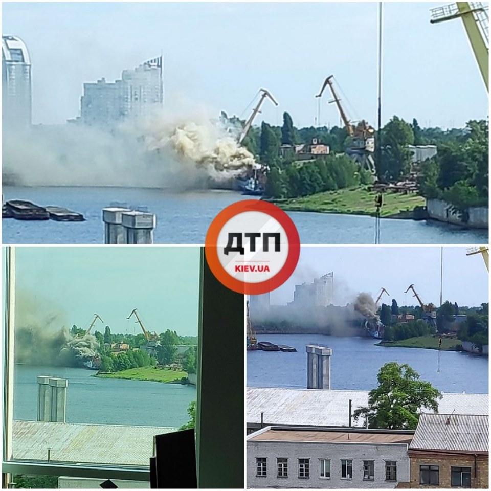 У столиці палає суднобудівний завод -  - 61435235 1336067109892512 2278649269160247296 n