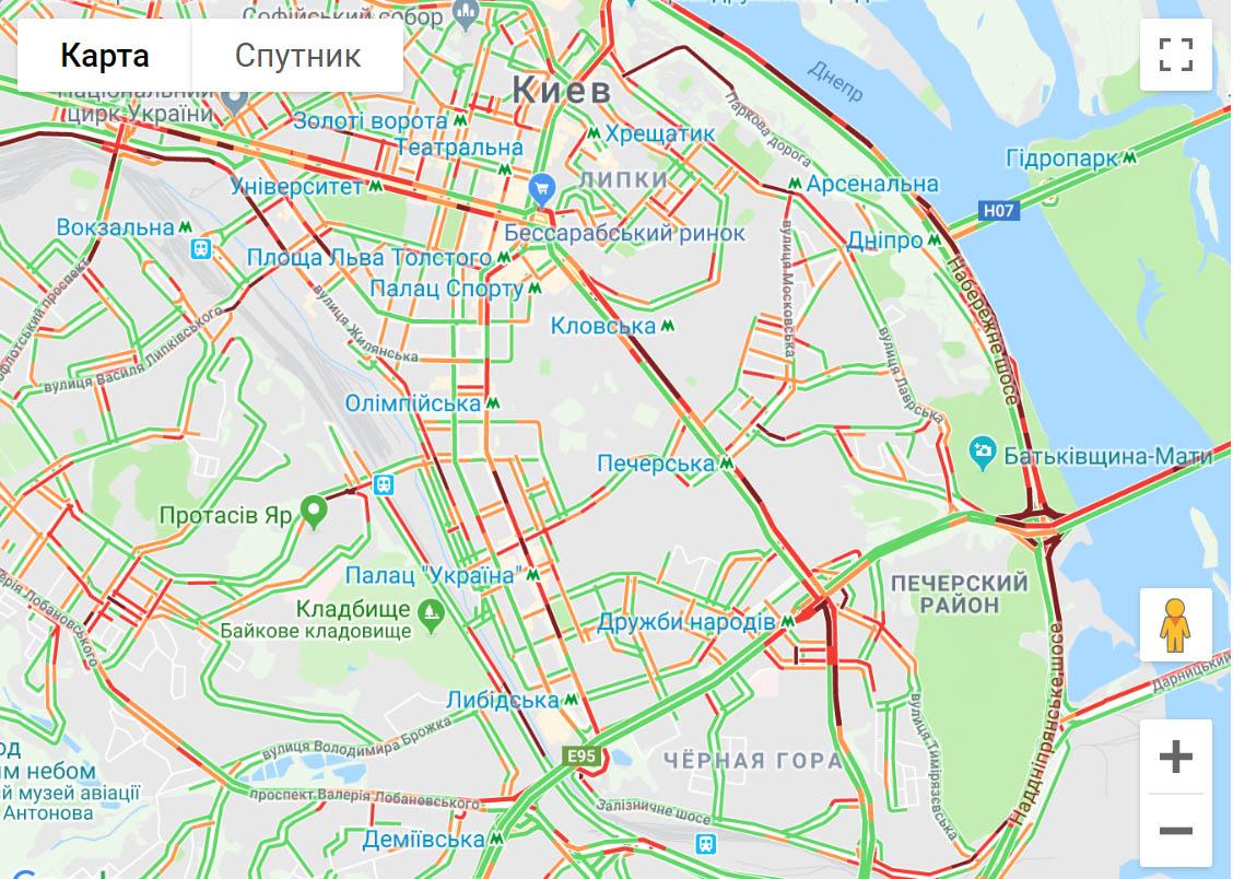 У Києві страшенні затори на дорогах -  - 76ertyfghv