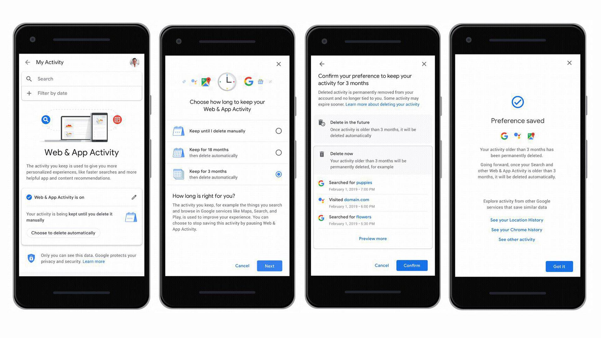 """Нова функція """"Автовидалення даних"""" від Google"""