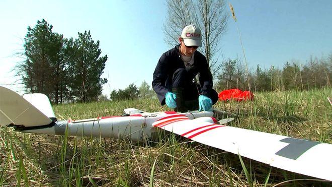 У Чорнобилі працюють дрони з Британії -  - dron1