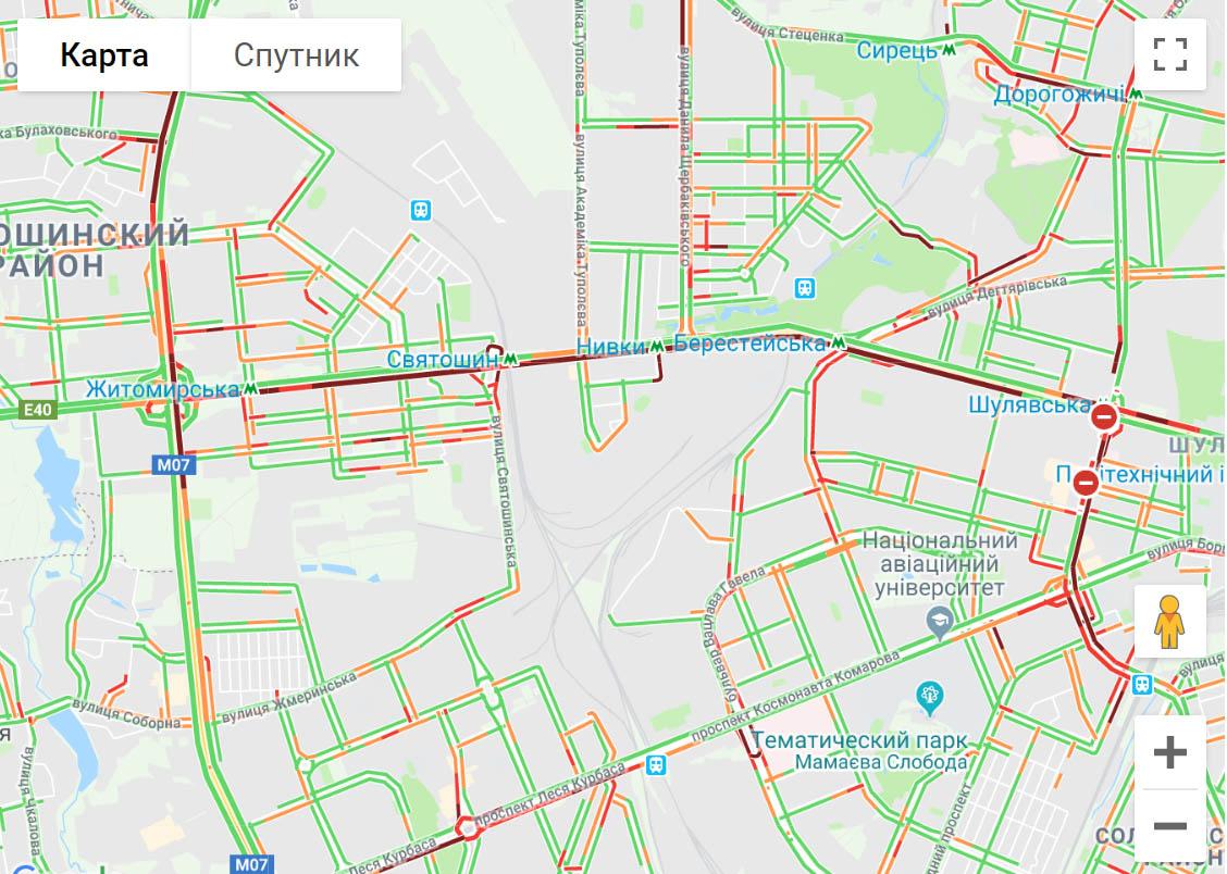 У Києві страшенні затори на дорогах -  - giukhb