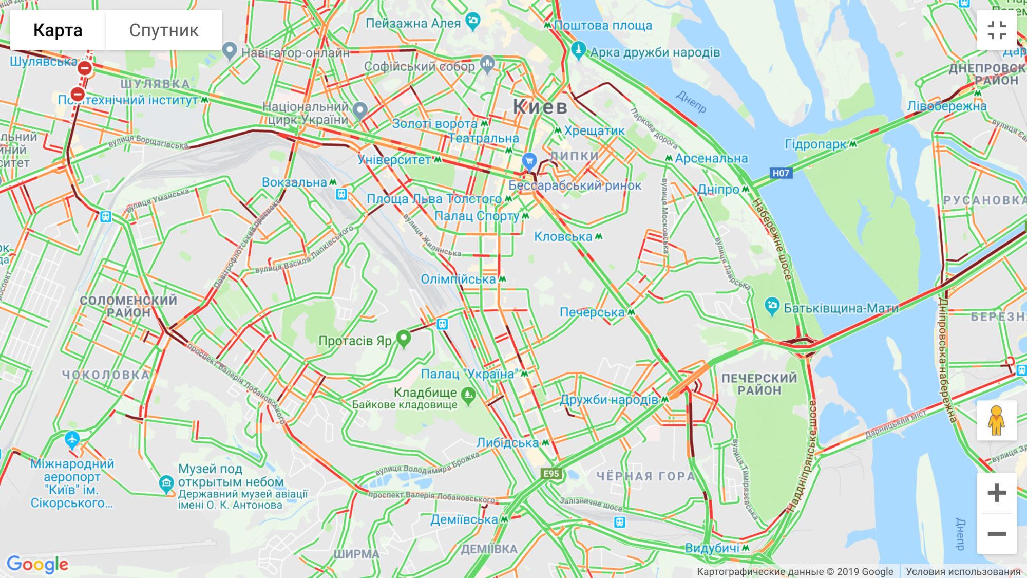 map-2000x1125 Київ: найбільші затори на мосту Патона