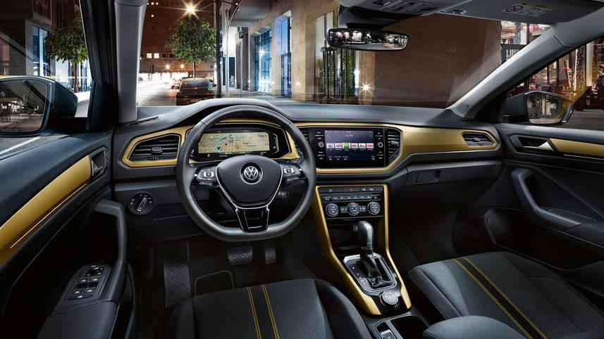 Європейський автобестселер Volkswagen T-Roc виходить на український ринок -  - vw t roc interieur gelb