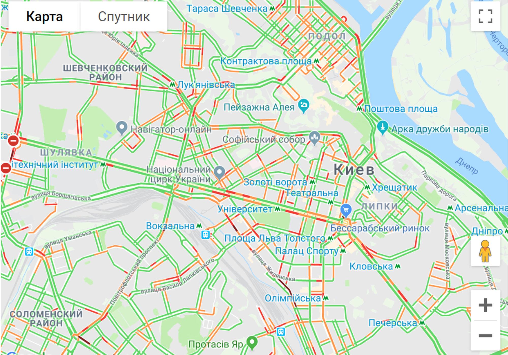 Київ майже вільний від заторів -  - z205 2000x1398