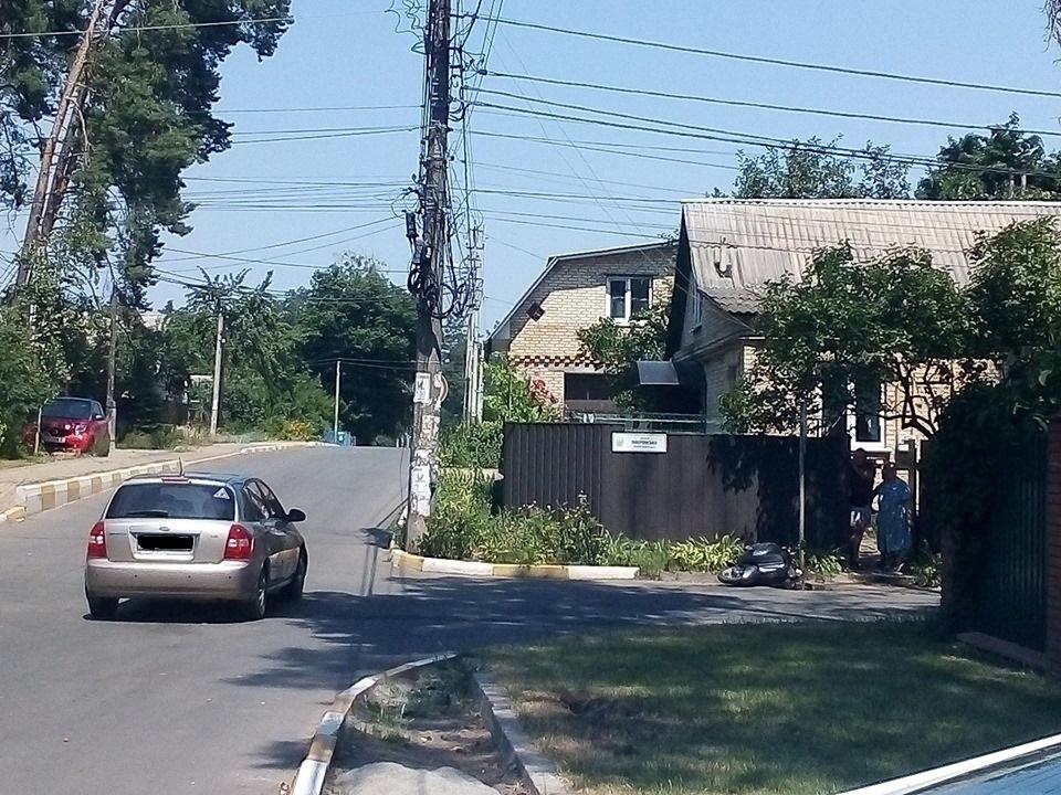 Moped Аварія в Ірпені: дівчина відбулася легкими тілесними ушкодженнями