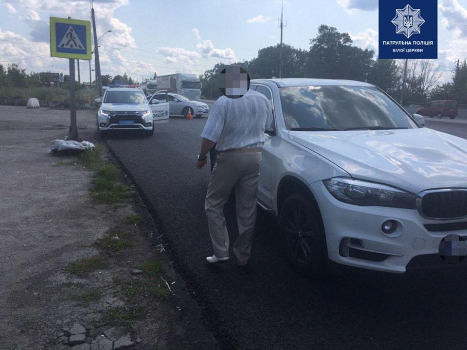На Білоцерківщині поліція зупинила авто, викрадене у Черкаській області