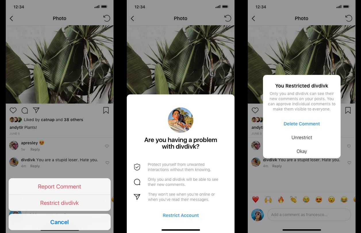 Instagram боротиметься з кібербулінгом