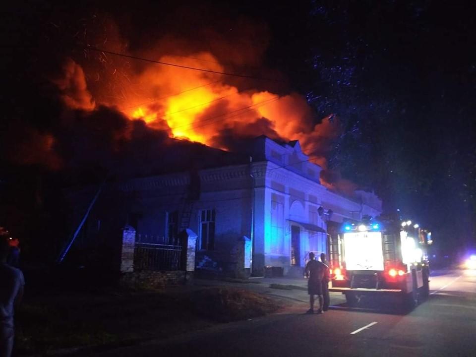 У Переяславі згоріла будівля старого кінотеатру -  - 67969088 530263441046252 3542714004717699072 n
