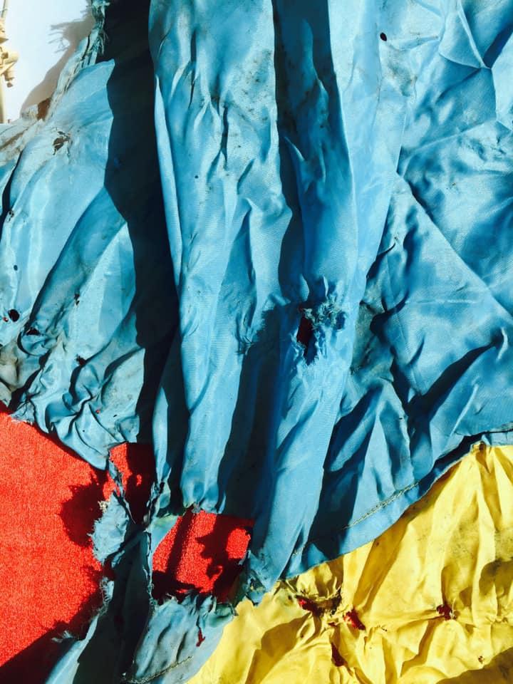 Прапор Нескорених - жовто-блакитна реліквія воїнів -  - 68962982 10157826483918338 4943572005543739392 n