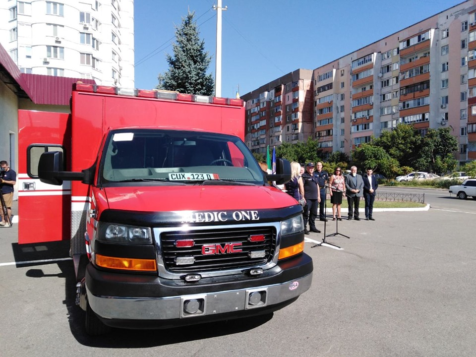 Американська делегація з міста Такома передала Броварам рятувально-медичний автомобіль -  - 69253106 353197712258596 2819316038896713728 n