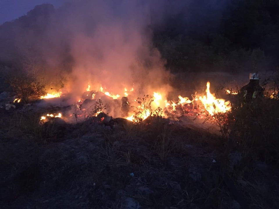 Знов палає сухостій: в місті Українка загасили загоряння рослиності -  - 69351748 402294980472214 169960832384368640 n