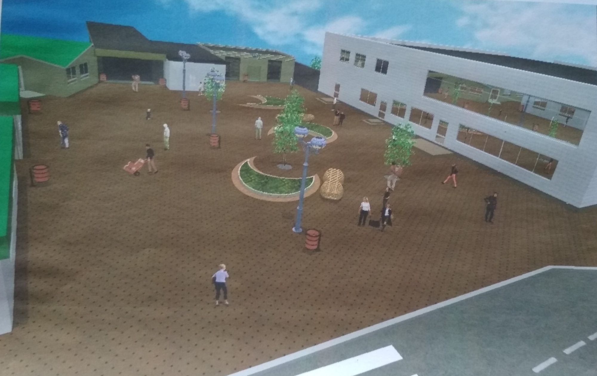 Реконструкція Завокзальної площі Фастова: фастівчанам показали проект площі - Фастів, реконструкція - IMG 20190807 161943 2000x1258