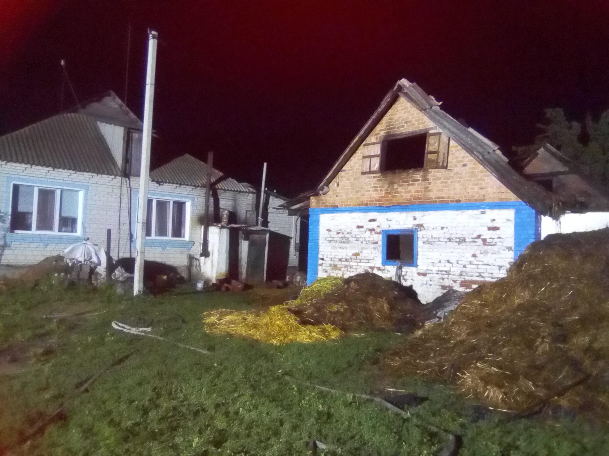 Солома і вогонь – небезпечне поєднання: врятовано будинки на Білоцерківщині