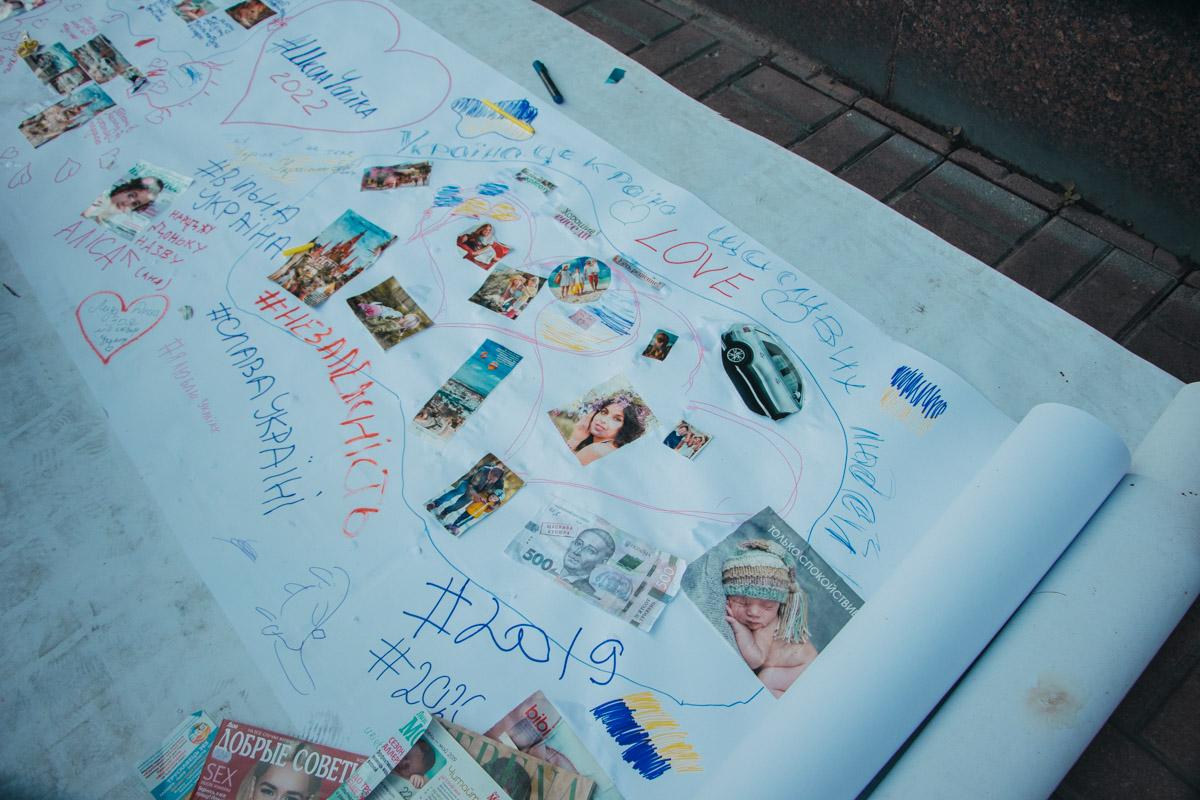 1000 квадратних метрів: на Хрещатику народжувалася найбільша в світі карта мрій - Флеш моб, київщина, Київ - Mechta 2