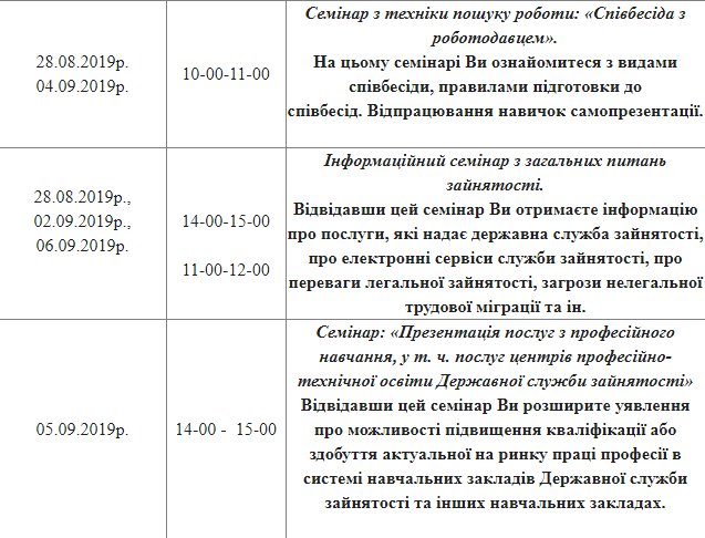 В Броварах містян запрошують відвідати семінари в центрі зайнятості -  - Screenshot 55 1