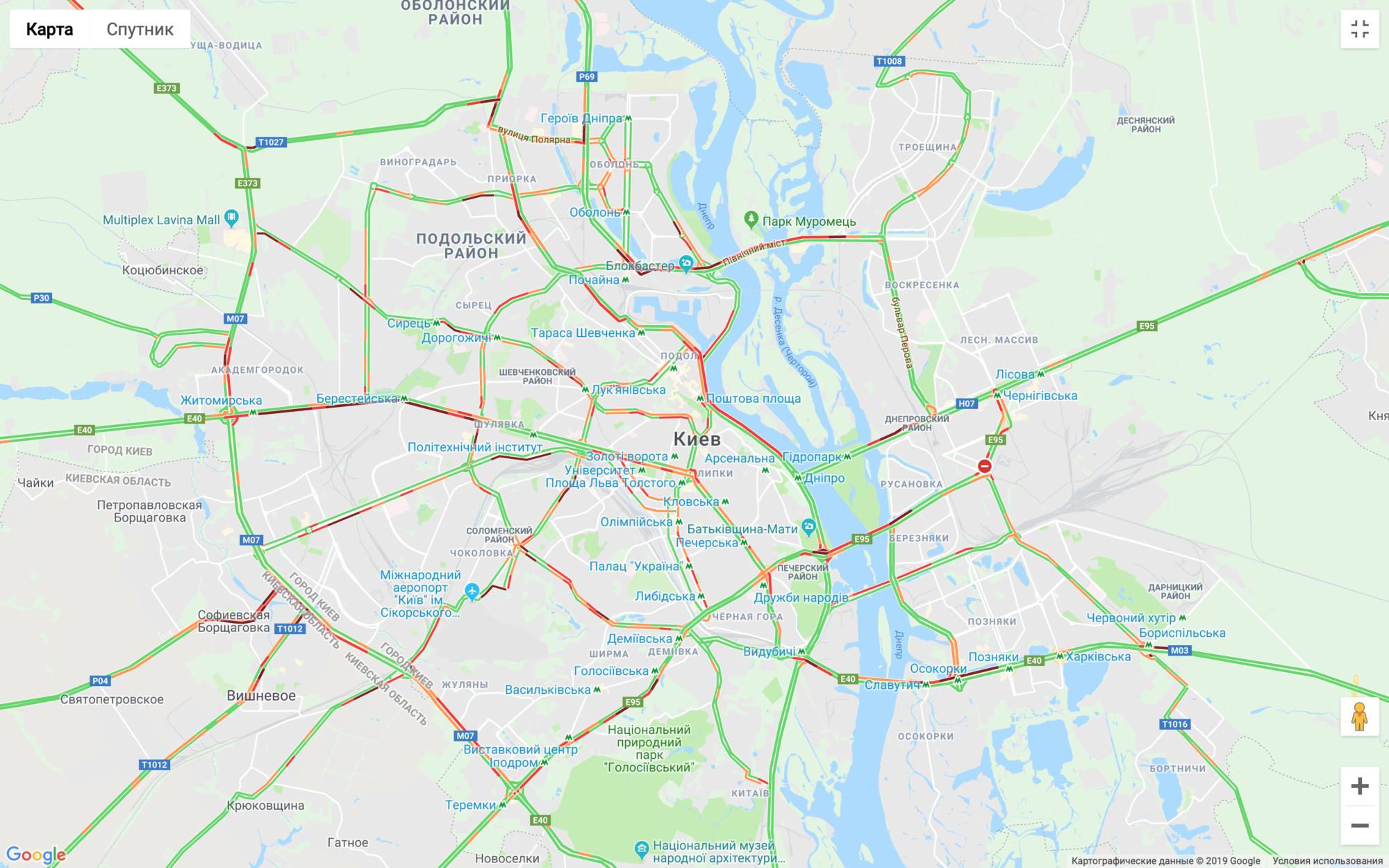 Затори в Києві скували більшість доріг -  - Snymok ekrana 2019 08 29 v 08.56.32 2000x1250