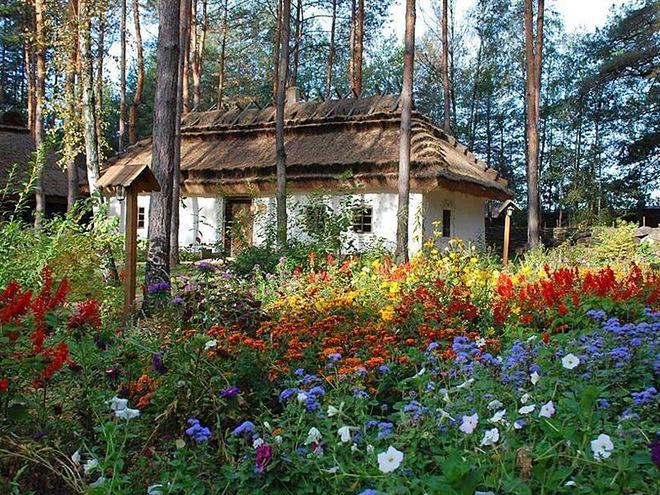 """fa9638897f3577ca9cfc394b8004a425_ukrainskoe_selo_buzovaya_01 """"Українське село"""" 19 століття на Київщині"""