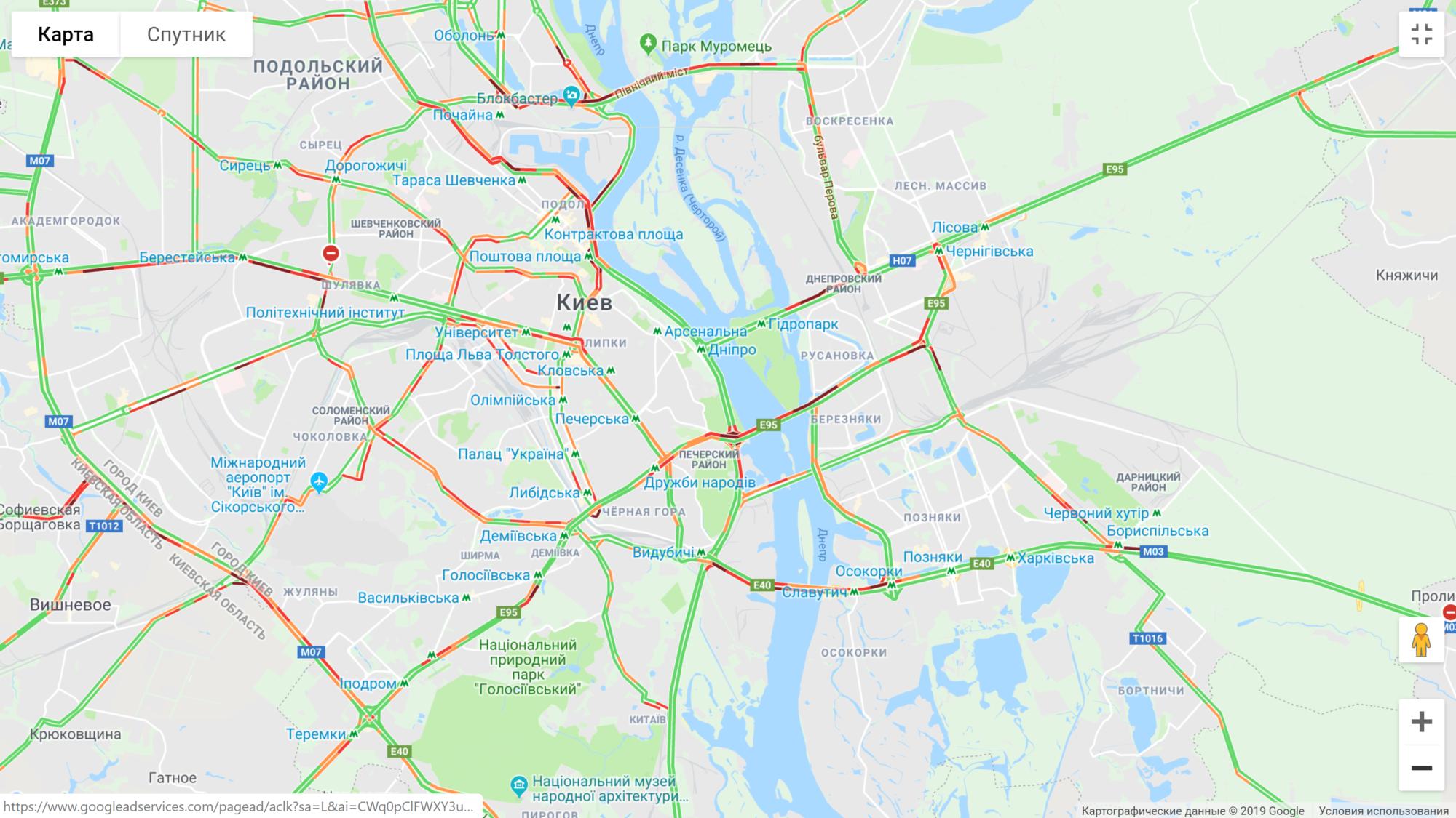 Київ: затори захопили всі мости -  - image 11 2000x1125
