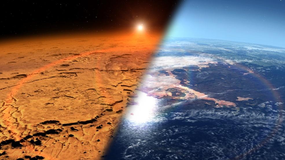 На Марсі текли річки і могло існувати життя - Червона планета, планети, Марс - 09 mars