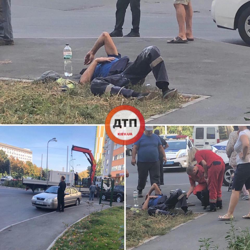 У столиці охоронна будка впала і важко травмувала людину -  - 70463557 1420957798070109 7983625225738649600 n
