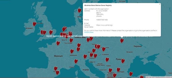 Україна з'явилась на карті світового реєстру донорів кісткового мозку