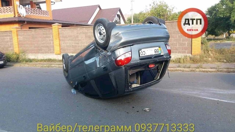 ghn В Броварах сталася ДТП з перекиданням авто