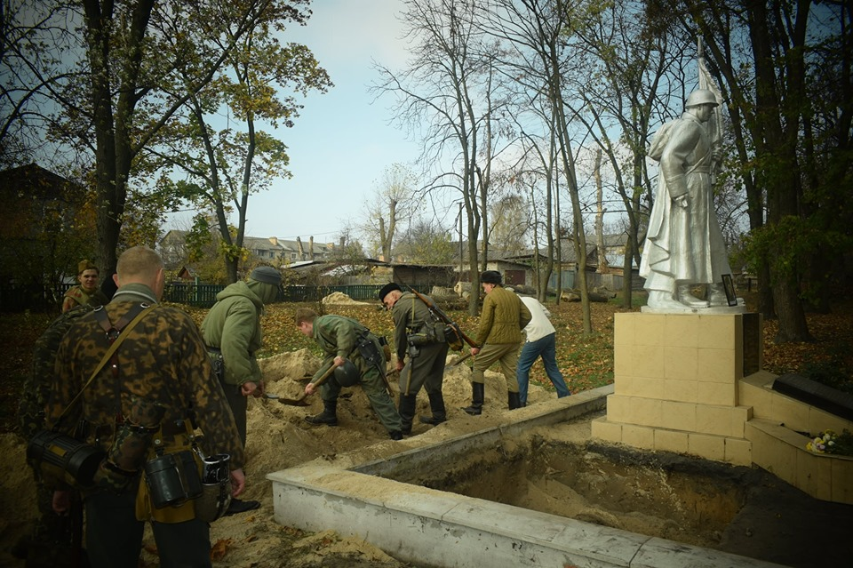 На Вишгородщині перепоховали  останки воїнів Другої світової - Литвинівка, київщина, Друга світова війна, Вишгородський район - 1029 Legion5 1