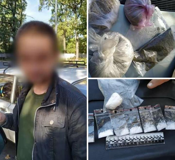 Джентльменський набір наркомана: у Бучі затримали жителя Гостомеля з пакунками канабіса, макової соломки та амфетаміну -  - 20191003 082812