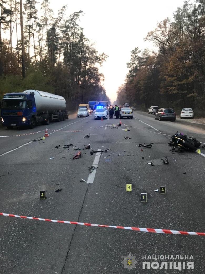 Смертельна ДТП на Гостомельському шосе: мотоцикл в'їхав у легковик - ДТП - 20 dtp