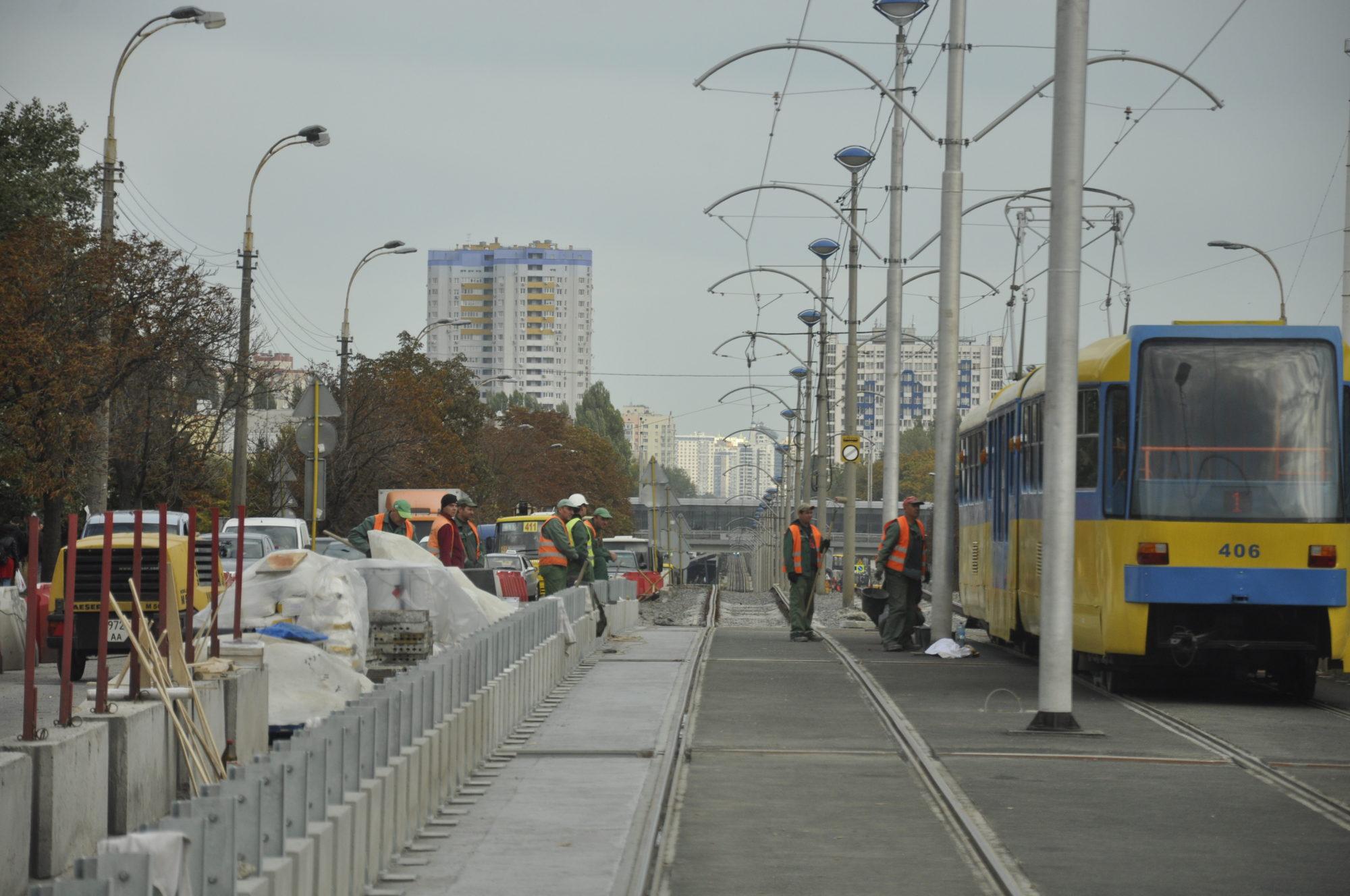 Що не так з відремонтованим трамваєм на Борщагівці - трамвайні колії, трамвай, ремонтні роботи, КП «Київпастранс», Борщагівка - 5d9327c1ebc1b 2000x1328
