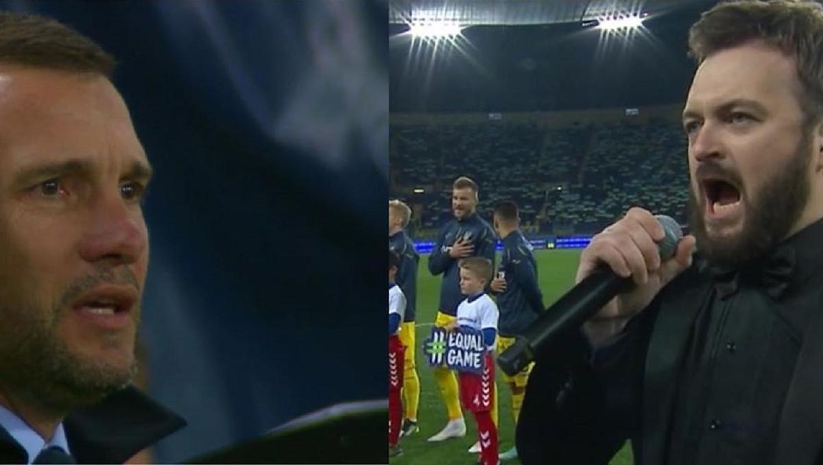 Дзідзьо вразив виконанням гімну перед футбольним матчем Україна - Литва - футбольний матч, опера, музика, Дзідзьо, Державний Гімн України, відео - 5da189173bc83