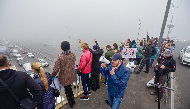 Жителі Дарницького району мітингували за чисте повітря -  - 5db14d5a54443