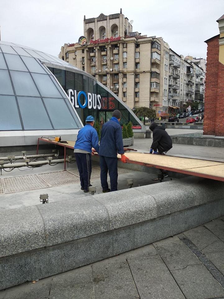 """Фонтани на Майдані підготували до """"зимівлі"""" -  - 71932570 1742169995927597 3508361370225606656 n"""