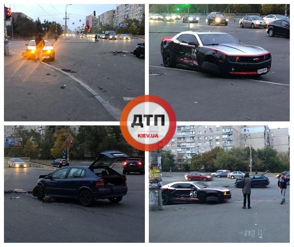 У Києві Opel зіткнувся зі спорткаром Chevrolet Camaro -  - 72345345 1443012339197988 7209647697815404544 n