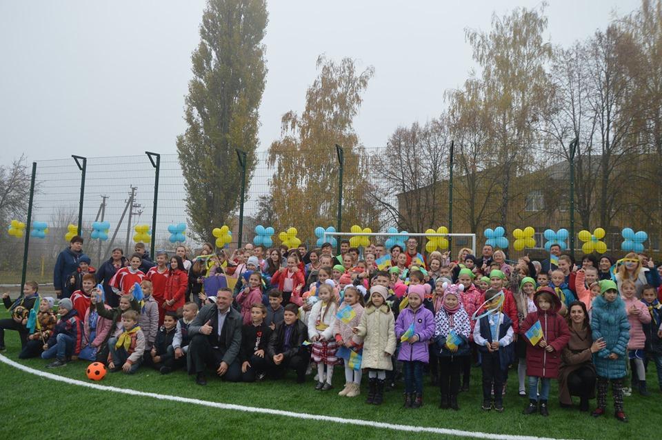 На Миронівщині урочисто відкрили міні-футбольне поле зі штучним покриттям -  - 73002098 1344881019001986 1246228260363173888 n