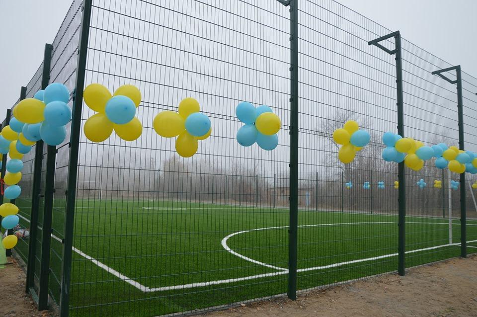 На Миронівщині урочисто відкрили міні-футбольне поле зі штучним покриттям -  - 73195769 1344882709001817 4142785854399578112 n