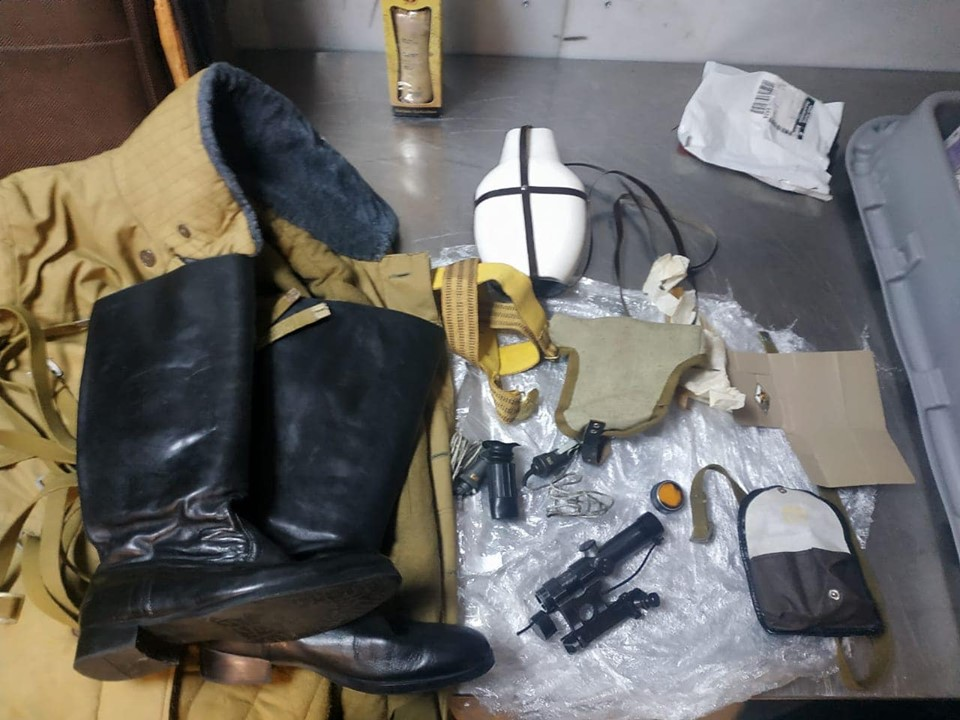 """У ДП МА """"Бориспіль""""службовий собака в речах іноземця виявив снайперський приціл -  - 73212170 683794488773789 6547616061510909952 n"""