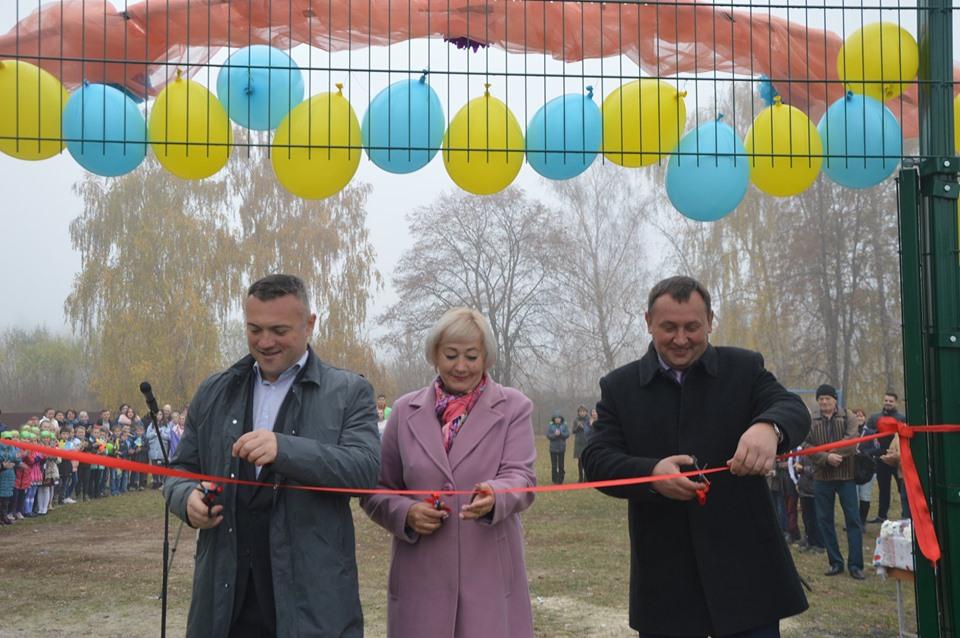 На Миронівщині урочисто відкрили міні-футбольне поле зі штучним покриттям -  - 73292156 1344878295668925 5024781801227288576 n 0