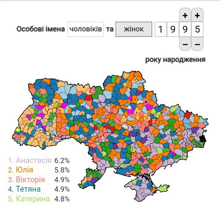 З'явилась онлайн-карта, де можна дізнатись популярність імен у кожному районі України - українці, народження дитини, народження, Громадянство України - S91013 1232441
