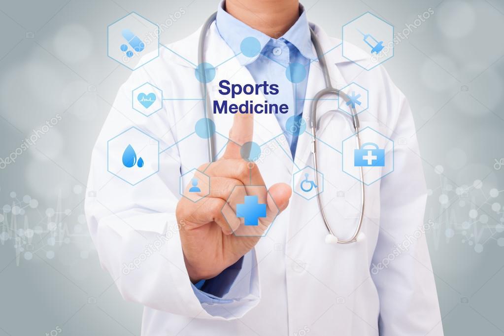Фастів потребує лікарів спортивної медицини -  - depositphotos 99612536 stock photo doctor with sports medicine sign